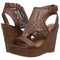 Lucky Brand Laffertie Women's Wedge Shoes ($89) ❤ liked on Polyvore featuring shoes, sandals, wedge heel shoes, synthetic shoes, platform wedge shoes, wedge heel platform shoes and lucky brand shoes