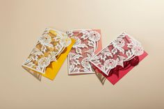 Sneak some color in to your correspondence this summer with these laser-cut stationary cards from ArtyMiss.