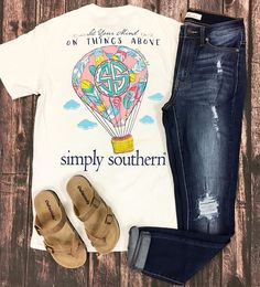 Keep your style perfectly preppy with Simply Southern tees!