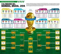 calendario oficial mundial futbol FIFA Brasil 2014 ...