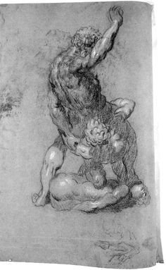 Studies of Michelangelo's Lost Group of Samson Slaying Two Philistines