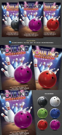 Bowling Tournament Flyer @creativework247 Templates - Templates - bowling flyer template