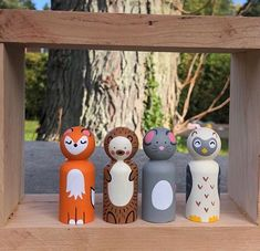 Nativity Peg Doll, Tree Bees, Cute Mouse, Modern Dollhouse, Wooden Toys, Owl, Woodworking, Clock, Gifts