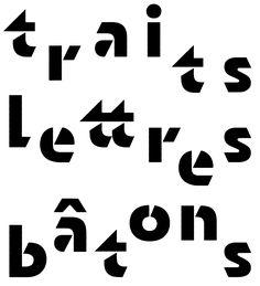 Sandrine Nugue Typographic Logo, Cool Typography, Typography Quotes, Typography Poster, Typography Inspiration, Typography Letters, Geometric Font, Geometric Stencil, Logo Lettré