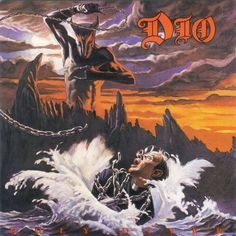 This is an album cover by the rock band dio. the album is called holy diver. dio's singer is former black sabbath frontman ronnie james dio. Heavy Metal Bands, 80s Metal Bands, Heavy Metal Music, Metal Songs, Greatest Album Covers, Rock Album Covers, Classic Album Covers, Thrash Metal, Heavy Metal Rock