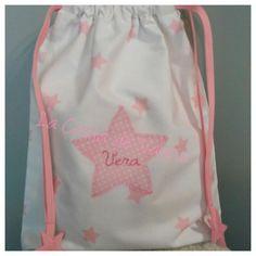 Bolsa merienda Snack Bags, Drawstring Backpack, Backpacks, Fashion, Afternoon Snacks, Sachets, Stars, Moda, Fashion Styles
