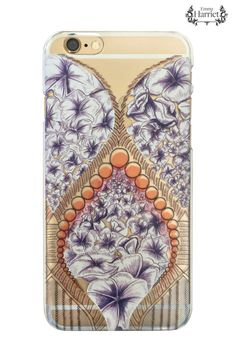 iPhone 6 clear printed case - Flower Drop