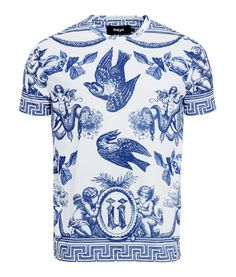 Unkut ceramic bird men t-shirt