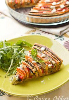 Tarte provençale en spirale {Courgette, Aubergine, Poivron & Carotte}