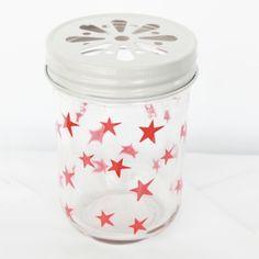 Product red star mason jar