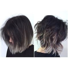 Image result for dark grey hair