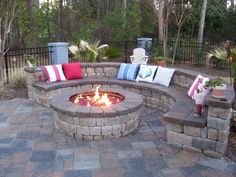 patio ideas. Gotta have a fire pit for romantic snuggles, roasting Peeps and warming feet on chilly nights.