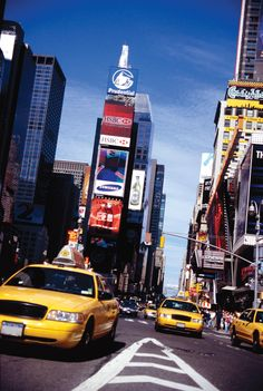 Times Square in New York City, USA.