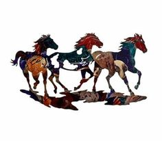 Shop Lone Star Western Decor now and enjoy discounts up to on rustic metal wall art, which includes this Ponies on the Run Wall Hanging! Metal Wall Art Decor, Hanging Wall Art, Metal Art, Wall Hangings, Wood Art, Western Decor, Western Art, Western Style, Rustic Decor