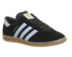 low priced 3ca64 04c45 Adidas Hamburg Black Blue Bird Gum - His trainers