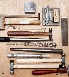 Jewelry making tools. Source unknown.