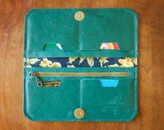 Leer Wrap portemonnee De Constance Chartreuse geel door RobbieMoto