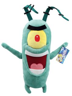 "SpongeBob Plankton Soft Plush Figure 16"" Bikini Bottom"