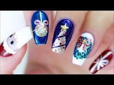 WEIHNACHTS NÄGEL 🎄6 IDEEN 🎅🏼 NAGELDESIGN WEIHNACHTEN 🎁WEIHNACHTSNÄGEL NÄGEL WEIHNACHTEN NAILART - YouTube Xmas Nails, Christmas Nails, Fun Nails, French Nails, Essie, Nagellack Design, New Nail Colors, Christmas Nail Designs, Nail Art Stickers