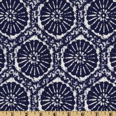Covington Seabreeze Indigo - Discount Designer Fabric - Fabric.com