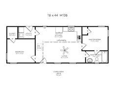 11 Best 16'x40' Cabin Floor Plans images | Cabin floor plans, Tiny  X House Plans Pole Barn Html on