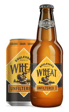 Boulevard Unfiltered Wheat Beer--- available on tap at Boulevard Grill Lawrence Beer Company, Brewing Company, Wheat Beer, Beer Packaging, Beer Taps, Branding, Brewery, Alcoholic Drinks, Beer Labels
