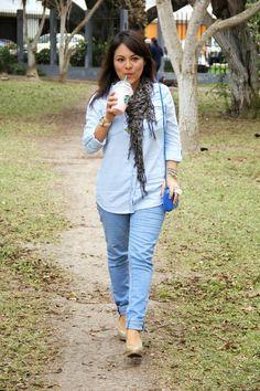 Pinkadicta: Denim sobre denim: la camisa jean