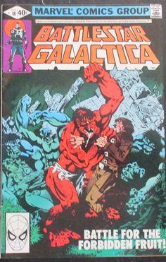 """BATTLESTAR GALACTICA, BATTLE FOR THE FORBIDDEN FRUIT"" ISSUE VOL 1, #18, 1980"