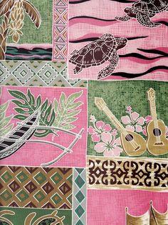 Twin Hawaiian duvet Duvet Island Pink
