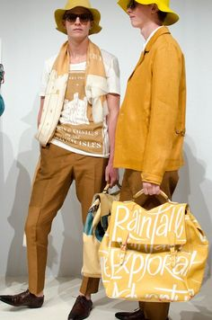 Colourful bucket hats, leather-bound notebooks and pop-coloured trainers at Burberry Prorsum SS15, London Collections: Men. More images here: http://www.dazeddigital.com/fashion/article/20349/1/burberry-prorsum-ss15