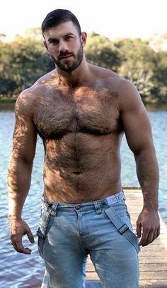 Hairy Hunks, Hairy Men, Scruffy Men, Handsome Guys, Hommes Sexy, Bear Men, Muscular Men, Hairy Chest, Mature Men