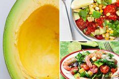 5 Ensaladas con aguacate que no puedes dejar de preparar - Adelgazar en casa Cantaloupe, Salads, Nutrition, Fruit, Cool Stuff, Recipes, Cardio, Food, British