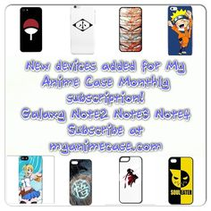 Just added new devices options!The best anime cases shipped directly to you monthly! How it works: 1. got to myanimecase.com and subscribe to Monthly Anime Club (cost starting at $9.99) 2. Pick your device( iphone 4/4s 5c 5/5s 6 6plus and Galaxy s3 s4 s5 s6 note2 note3 note4) 3. Receive your surprise monthly anime case every month! its that easy! questions?? Email us myanimecase@gmail.com or kik us or dm #tokyoghoul #fairytail #dragonballz #naruto #subscribe #swordartonline #subscriptionbox…