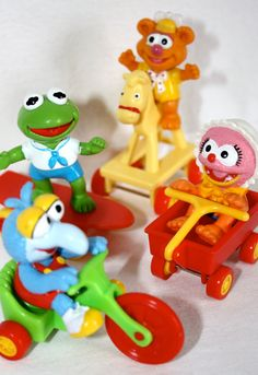 Vintage 1980's Jim Henson's The Muppet's Collector McDonald's Happy Meal Toys