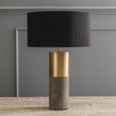 Concrete & Brass Lamp - View All Lighting - Lighting - Lighting & Mirrors