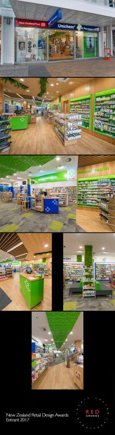 PROJECT; Unichem, Cashel Pharmacy RETAILER: Annabel Parrant DESIGNER: Simon Drought & Mark Greenland, Indesign  SHOPFITTER: Allen and Chapman