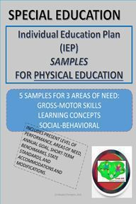 Looking for guidance on writing Present Levels, Goals, Accommodations and Modifications for P.E.? Included here are 5 samples for 3 Areas of Need: Gross-Motor, Learning Concepts, and Social -Behavioral. Adapted Physical Education, Individual Education Plan, Special Education Teacher, Science Education, Health Education, Adapted Pe, Pe Ideas, Human Body Unit, Writing Goals