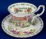 Royal Albert Norfolk English Cottages Cup and Saucer $32.00