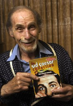 """Photo honoring Sid Caesar on Tributes.com. """"ctor Sid Caesar poses for a photo at his home Wednesday, Sept. 28, 2005, in Beverly Hills, Calif. Caesar became a towering figure in TV comedy with """"Your Show of Shows,"""" which aired from 1950-54, and """"Caesar's Hour,"""" 1954-57. He spent more than six months picking sketches from the series for the newly released three-disc DVD set, """"The Sid Caesar Collection."""" """""""