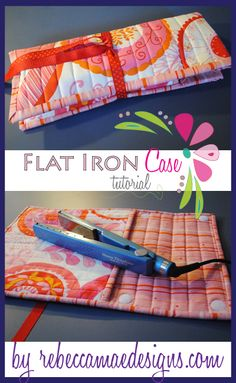 Free Sewing Tutorial for a flat iron or curling iron case. Free Sewing Tutorial for a flat iron or curling iron case. : Free Sewing Tutorial for a flat iron or curling iron case. Free Sewing Tutorial for a flat iron or curling iron case. Sewing Hacks, Sewing Tutorials, Sewing Crafts, Sewing Projects, Sewing Ideas, Sewing Diy, Quilting Tutorials, Baby Sewing, Quilting Projects