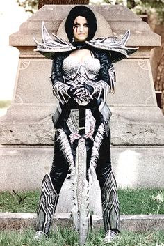 """Daedric cosplay picture printed on 4""""x6"""" glossy photo paper. Let me know if you want it personalized."""