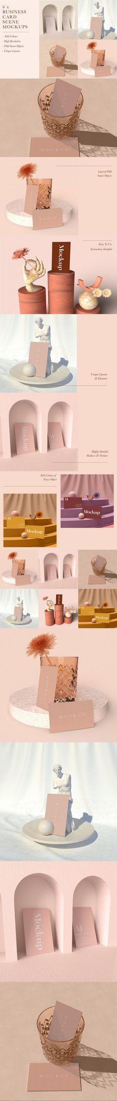 Chic Business Card Scene Mockups #psd #bundle #topview #flower #chaitea #wellness #lifestyle #yoga #statue #mockup #natural #template #portfolio #spread #mockups #mystical #mockups #patterns #TemplateDesign