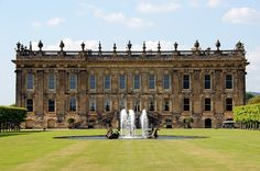 Chatsworth House is a large country house in Chatsworth, Derbyshire,  England. It is the seat of the Dukes of Devonshire, and has been home  to the Cavendish family, since Bess of Hardwick settled  at Chatsworth in 1549