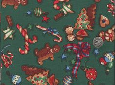 Christmas Cookies  Novelty Christmas Cotton by BudgiefluffSews, $4.50