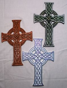 Ceramic Celtic Cross by MysticalWonders on Etsy, $23.20