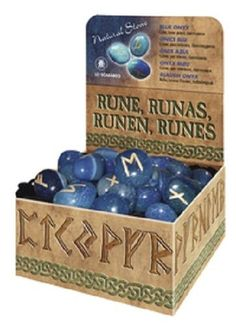Blue Onyx Lo Scarabeo Deluxe Gemstone Runes Wiccan Pagan Altar Supply