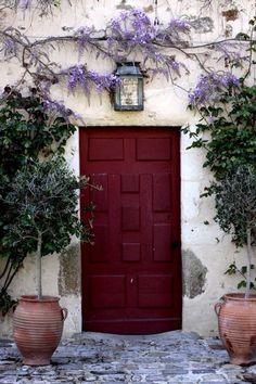front door colors | Happy little burgundy door! Have a wonderful & relaxing weekend loves ...