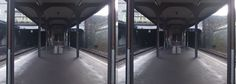 This abandoned station looks scary. The example of side-by-side image created with 3DWiggle.