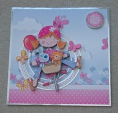 Handmade 7 x 7 Greeting Card  Just For You by BavsCrafts on Etsy