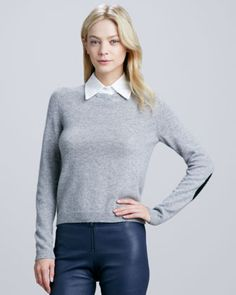 Roney Elbow-Patch Sweater by Alice + Olivia at Neiman Marcus.